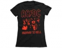 AC/DC - Highway Red (Ladies Fitted  T-Shirt)