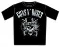 Guns N Roses - Skull Top Hat Black And White (T-Shirt)
