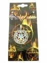 Pentagram - Star In Circle With Centre Stone (Pendent)