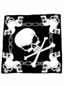 Bandanna - Skull & Bones (Black & White)