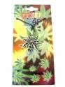 Green Leaf (Cannabis) - Silver & Black (Pendent)