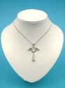 Angel  - With Glass Cut Stones. (Pendent)