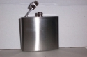Hip Flask - In Stainless Steel With Screw Cap