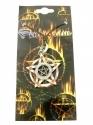 Pentagram - Star In Circle With Orange Stones (Pendent)