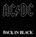 AC/DC -  Back In Black (Woven Patch)