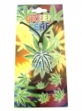 Green Leaf (Cannabis) - Silver & Green (Pendent)