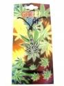Green Leaf (Cannabis) - Silver & Green ( Pendent)