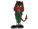AC/DC - Angus Devil Shaped (Iron On  Patch)