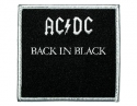 AC/DC - Back In Black Emb (Woven Patch)