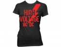 AC/DC - High Voltage (Ladies Fitted T-Shirt)