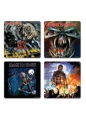 Iron Maiden -  4 Different Album Covers Coaster Set